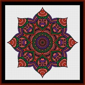 mandala 18 cross stitch pattern by cross stitch collectibles