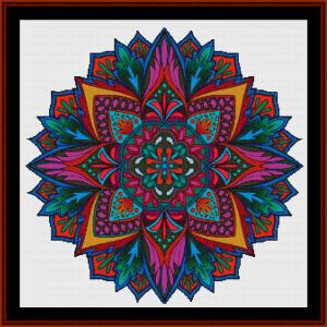 mandala 19 cross stitch pattern by cross stitch collectibles