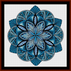 mandala 20 cross stitch pattern by cross stitch collectibles