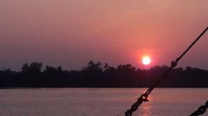 goa sun set