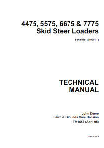 download john deere 4475, 5575, 6675, 7775 skid steer loader service repair manual