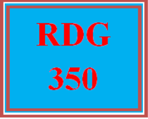 rdg 350 week 1 reading reflection paper