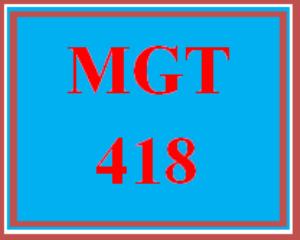 mgt 418 week 1 entrepreneurial venture plan paper (2019 new)
