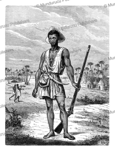soldier of the kingdom of dahomey (benin), y. foulquier, 1863