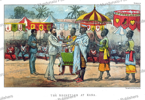 the king of dahomey at kana, j.a. skertchly, 1871