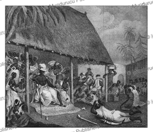 an audience at the court of bossa ahadee, the king of dahomey, archibald dalzel, 1800