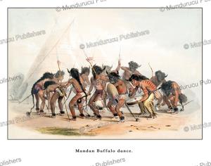 mandan indians performing a buffalo dance, george catlin, 1845