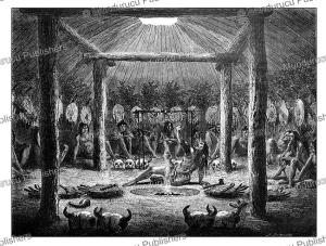 mandan indians the night before combat, alphonse de neuville, 1867