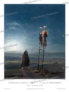 idols of the mandan indians, karl bodmer, 1843