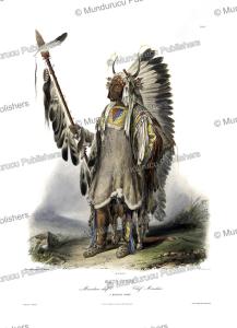 mato´-tope, a mandan chief, karl bodmer, 1840
