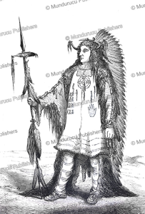 mandan chief, a. joliet, 1860