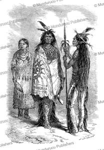 a group of mandan indians, alphonse de neuville, 1867