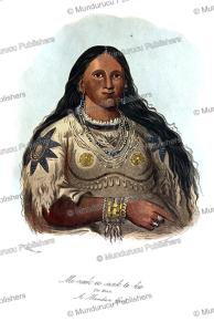 mi-neek-ee-sunk-te-ka, the mink, a mandan girl, george catlin, 1835