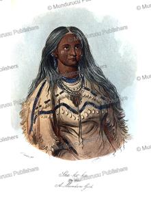sha-ko-ka (the mint), a mandan girl, george catlin, 1832