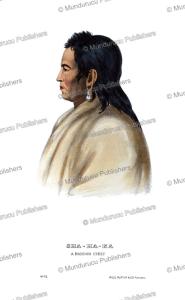 shahaka, a mandan chief, thomas mckenney, 1872