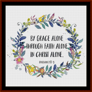 ephesians:  custom pattern by cross stitch collectibles