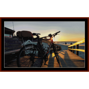 dad's bike:  custom pattern by cross stitch collectibles