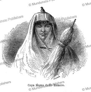 mama ocllo, inca fertility goddess and sister and wife of manco ca´pac, édouard riou, 1863