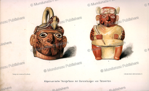 peruvian pottery with tattoo designs, wilhelm joest, 1887