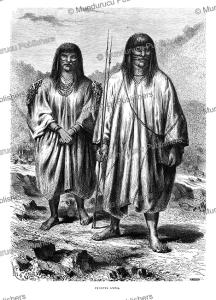 antis couple, east of the andes, peru, e´douard riou, 1866