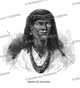 simuco indian of the chiruntia region in peru, riou, 1864