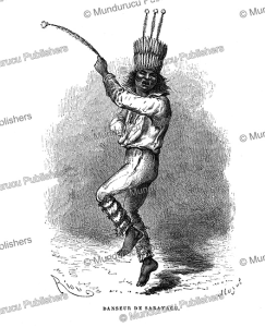 dancer from the sarayaku, peru, e´douard riou, 1866