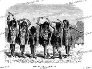 the women's dance at sarayaku, peru, e´douard riou, 1866