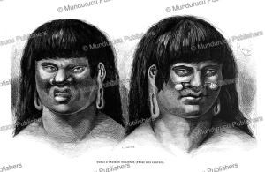 ccoto-orejone indians, peru, e´douard riou, 1866