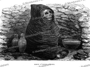 aymara indian mummy, peru, 1866