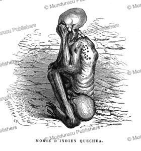 quechua mummy, peru, e´douard riou, 1867