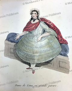 lady of lima in grand dress, peru, manuel sobreviela, 1809