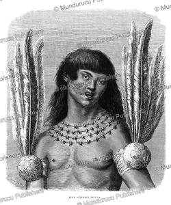 ticuna indian, peru, e´douard riou, 1867