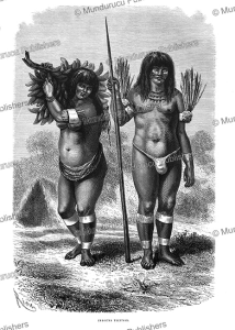 ticuna indians, peru, e´douard riou, 1867