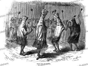ticuna dance, peru, e´douard riou, 1867