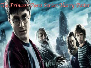 the princess poets series: harry potter