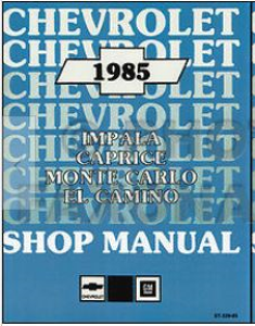 1985 el camino/monte carlo shop manual
