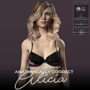 anatomically correct: alicia for genesis 3 and genesis 8 female