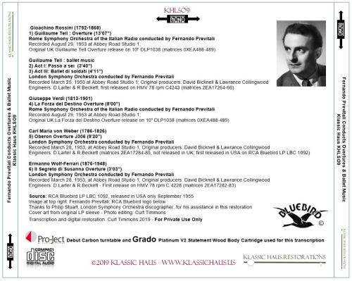 First Additional product image for - Fernando Previtali conducts Rossini, Verdi, von Weber and Wolf-Ferrari