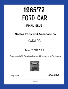 1965-72 ford car master parts and accessory catalog