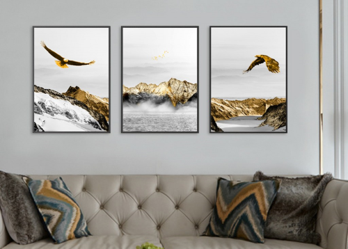 First Additional product image for - gold abstract eagles