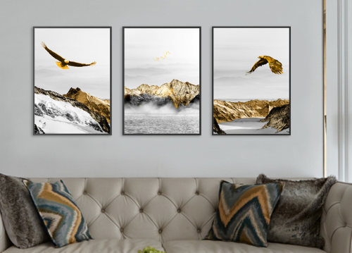 Second Additional product image for - gold abstract eagles