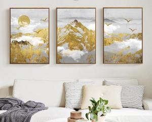 golden mountains set of 3