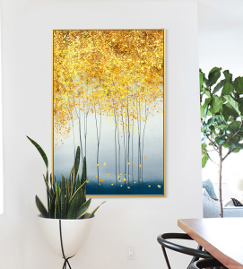 abstract golden trees