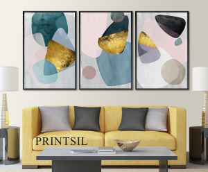 abstract wall decor print set of 3 | Photos and Images | Abstract