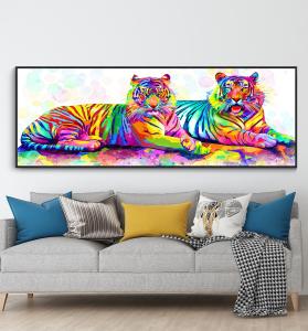 colorful tigers design