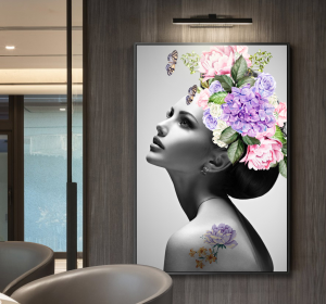 girl with flowers print