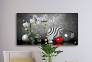 floral composition abstract print