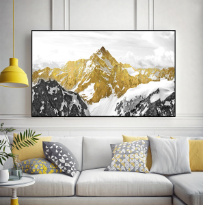 golden landscape print