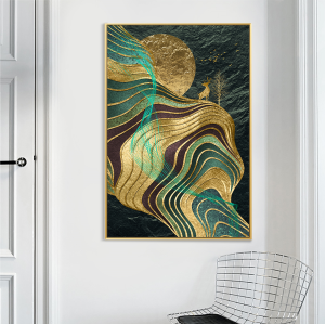 abstract wall decor print