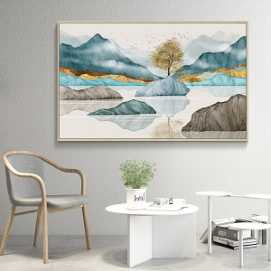 abstract landscape print